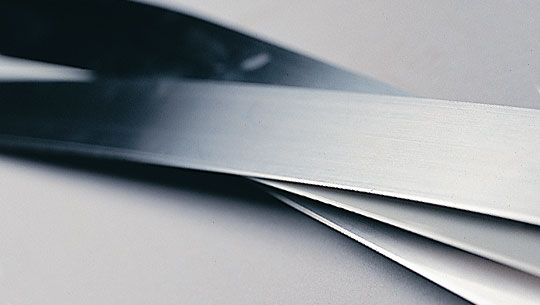 Production and supply of doctor blades chamfered ( bevelled )